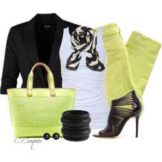 Black Blazer + Colored Jean Contest. #womens fashion #fall fashion