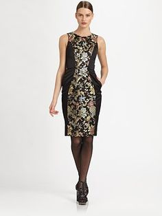 Jason Wu Floral Silk Brocade Dress