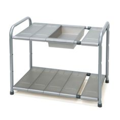 Two-Tier Expandable Under-the-Sink Shelf - BedBathandBeyond.com $30
