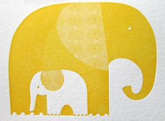 ♥ Elephants Letterpress Notecards by INK+WIT (Tara Hogan). Inspiration for a quilt