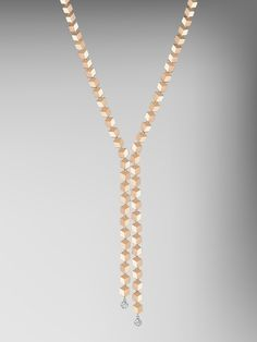 18kt Rose Gold Brillante Sexy Necklace with Diamond Rondelles