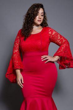 Plus Size Lace Ruffle Midi Dress Plus Size Fashion Tips, Plus Size Beauty, Pink Clubwear, Erica Lauren, Plus Zise, Plus Size Summer Outfit, Voluptuous Women, Curvy Girl Fashion, Curvy Outfits