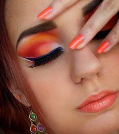Orange Autumn Makeup