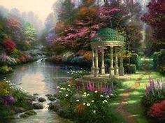 The Garden Of Prayer by Thomas Kinkade 1997