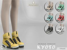 The Sims Resource: Madlen Kyoto Shoes by MJ95 • Sims 4 Downloads