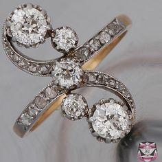 art deco diamond rings windmill swirl- Google Search