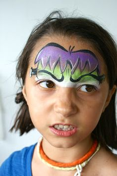 Halloween and face paint.
