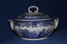 Suppenterrine Burgenland blau von Villeroy    Preis: 28€ VB