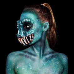 Bodypainting : Lara Wirth se transforme en monstres