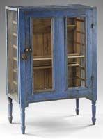 Pie Safe in Original Blue Paint / mid-19th century / New York