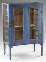 Pie Safe in Original Blue Paint / mid-19th century / New York
