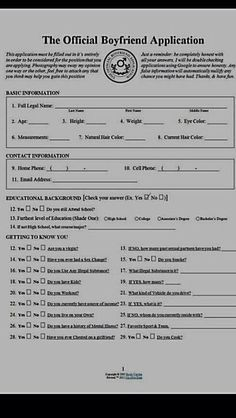 too funny. boyfriend application: