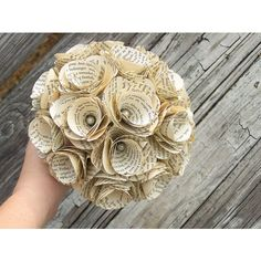 Book Bouquet -Book Flowers -Rustic Bridal Bouquet -Vintage Bouquet... ($99) ❤ liked on Polyvore featuring home and home decor