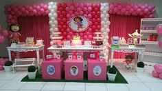 A decoração de aniversário infantil da Dora Aventureira faz a alegria de meninas descoladas (Foto: inspiresuafesta.com)