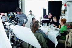 "isabelle huppert on set | Isabelle Huppert, Lolita Chammah, Marc Fitoussi on the set of ""Copacabana"""