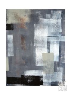 Green And Grey Abstract Art Painting Art Print by T30Gallery at Art.com
