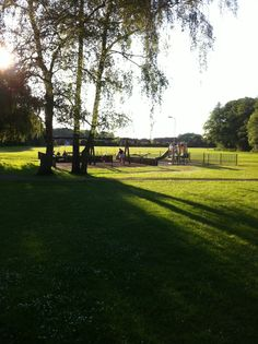 Play area in the woodland of Chandlers Ford, Hampshire.