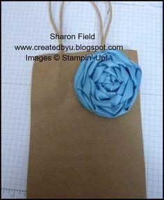 Ribbon rose for gift decoration