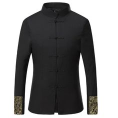 8c1374b5c993 Brand Clothing Chinese Style Stand Collar Buttons Up Men Wedding Dress  Party Suit Jacket Slim Fit Homme Blazer Blazer Masculino