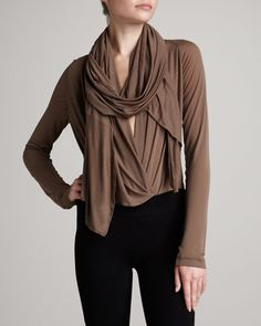 Donna Karan Scarf Body Blouse - Neiman Marcus | Wow, sexy and elegant.