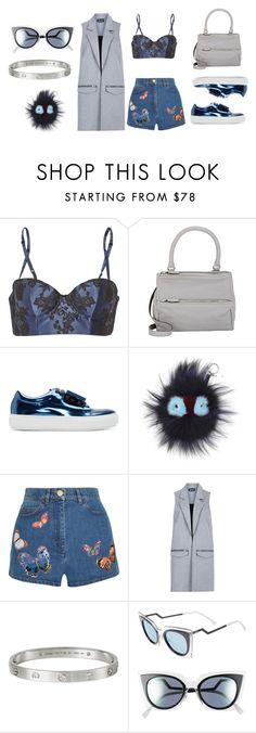 """#Look:275"" by dollarwomanlux ❤ liked on Polyvore featuring Carine Gilson, Givenchy, Acne Studios, Fendi, Valentino, Topshop and Cartier"