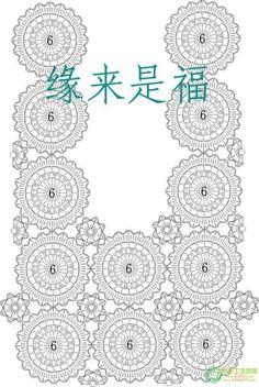 Free Crochet Chart for Lacy Summer Jacket Floral Motif (Crochet patterns) Blouse Au Crochet, Crochet Baby Shawl, Beau Crochet, Pull Crochet, Crochet Motifs, Crochet Collar, Crochet Diagram, Crochet Chart, Crochet Squares