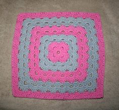 """Four 12"""" Shell Stitch Square Variations, free pattern by Priscilla Hewitt.  Work is turned every other round, creating an interesting texture.  . . . .   ღTrish W ~ http://www.pinterest.com/trishw/  . . . .    #crochet #motif"""