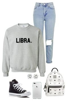 Libras Sweatshirt Gear by birthdaygirlworld on Polyvore featuring Topshop, Converse and MCM