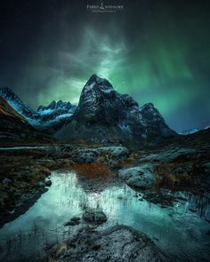 For more of my Works Prints Workshops ore personal Coaching. landscape water travel night light snow norway mountain ice outdoors aurora no person For more of my Night Photography, Nature Photography, Amazing Photography, Landscape Photography, Aurora Norway, Polar Night, Multiple Exposure, Fantastic Art, Landscape Photos