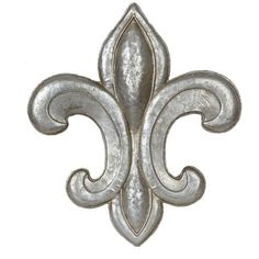 Silver Fleur-de-Lis Metal Plaque featuring polyvore, home, home decor, silver home accessories, silver home decor, silver plaque and fleur de lis home decor