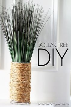 50 DIY Dollar Tree Crafts - Günstige Dollar Store Bastelideen - Dollar Tree Crafts – Dollar Tree DIY – DIY Ideen und Bastelprojekte aus Dollar Tree Stores – E - Dollar Tree Vases, Dollar Tree Decor, Dollar Tree Crafts, Dollar Tree Store, Dollar Stores, Thrift Stores, Diy Tree Decorations, Dollar Store Centerpiece, Dollar Tree Flowers