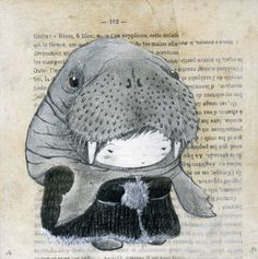 Tim Walrus by sefora on Etsy, €16.00