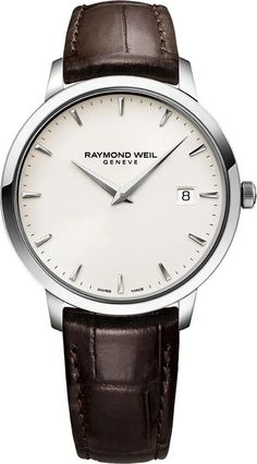 Raymond Weil Watch Toccata Mens Watch available to buy online from with free UK delivery. Simple Watches, Modern Watches, Watches For Men, India Fashion, Fashion 2020, Raymond Weil, Metal Bracelets, Leather Case, Omega Watch