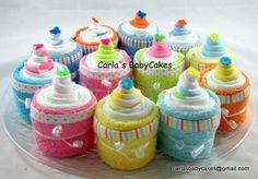 Infantile débarbouillette Cupcake nouveau par MsCarlasBabyCakes
