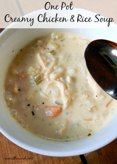 Chicken & rice soup regular