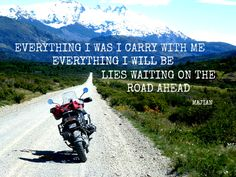 Explore the world on a motorcycle with MotoQuest on any of their motorcycle tours. Offers BMW, Harley Davidson motorcycle tours rentals all over the world. Motorcycle Memes, Biker Quotes, Best Travel Quotes, Family Road Trips, Soul Quotes, Inspirational Quotes, Wisdom, Tours, Adventure