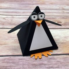 Stampin Up Playful Pals stamp set Pyramid Pals Thinlits Dies save 15 with the bundle penguin box pyramid box treat box gift box Playful Pals Stampin Up, Animal Cards, Stamping Up, Kids Cards, Cute Cards, Craft Fairs, Stampin Up Cards, Making Ideas, Christmas Crafts