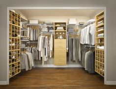 10 Stylish Walk in Closet Ideas : Fantastic Walk In Closet Ideas With Wooden Cabinet