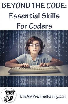 The Code - Essential Skills For Coders. Beyond The Code - Essential Skills For Coders. Prepare your child for a successful career in computer programming and coding with these essential skills beyond programming languages. Computer Programming Languages, Coding Languages, Computer Coding, Learn Programming, Python Programming, Computer Technology, Computer Science, Computer Laptop, Medical Technology