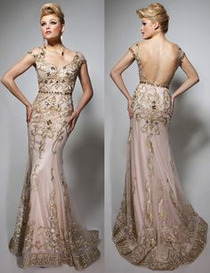 Grecian Glamour Embellished Gown by Tony Bowls - $550.00