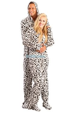 White+Dalmatian+Hooded+Adult+Pajamas.+These+one+piece+pjs+feature+a+hoody,+front+pockets+and+thumb+holes.+Order+our+White+Dalmatian+pyjamas+right+away.+Our+only+caution+is+beware+of+dog!  $49.99