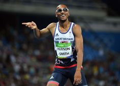 Matthew Hudson-Smith (GBR) during the men's track and field 400m semifinal in the Rio 2016 Summer Olympic Games at Estadio Olimpico Joao Havelange.