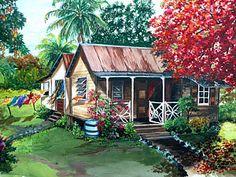 Caribbean Painting - Caribbean Life by Karin  Dawn Kelshall- Best