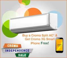 #Croma #IndependenceDayOffer - Upto 65% OFF + 5% Cashback on #Electronics