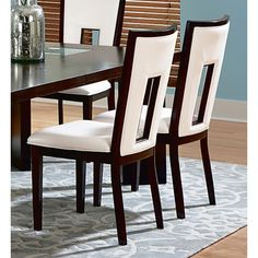 Found it at www.dcgstores.com - ♥ ♥ Delano White Seat and Back Side Chair ♥ ♥