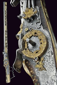 A beautiful wheel-lock rifle,Germany, 1st quarter of the 17th century.