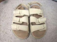Ecco women sandals 38 / 7 - 7.5 beige #ECCO #Strappy #Casual