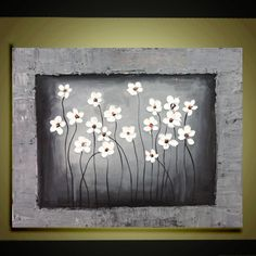 Original Abstract Oil painting contemporary white by QujunArt, $105.00  <3 @