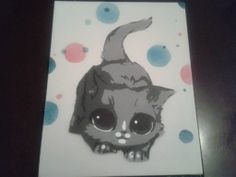 Playful Kitty Stencil