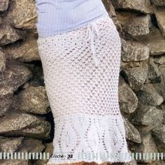 White Skirt free crochet graph pattern
